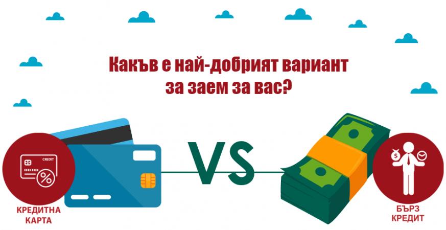 Бърз онлайн кредит или кредитна карта