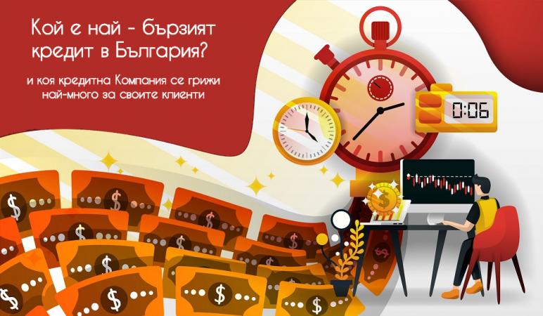 Кой е най - бързият кредит в България и коя кредитна Компания се грижи най-много за своите клиенти:  проучване на Izbiram.bg за 2020г.