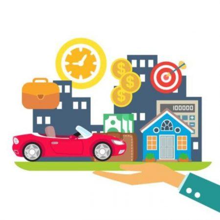 кола, къща, пари