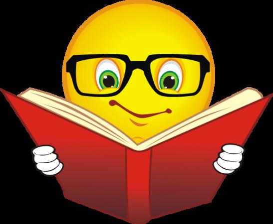 лице, очила, книга