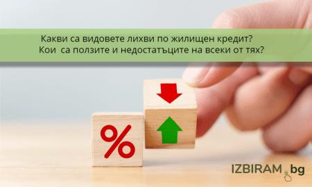 Какви са видовете лихви по жилищен кредит?
