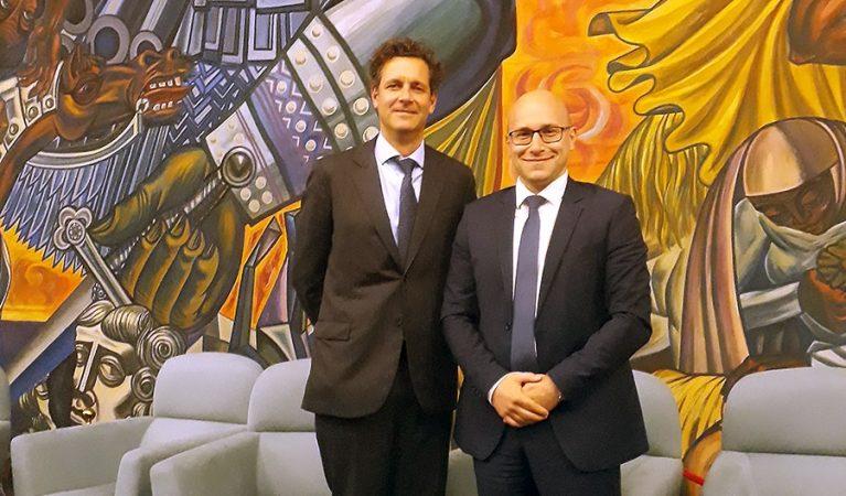 Отляво на дясно: Даниел Дрюър, длъжностно лице по защита на данните и ръководител на звеното за защита на данните в Европол и Пламен Славов, DPO на Credissimo