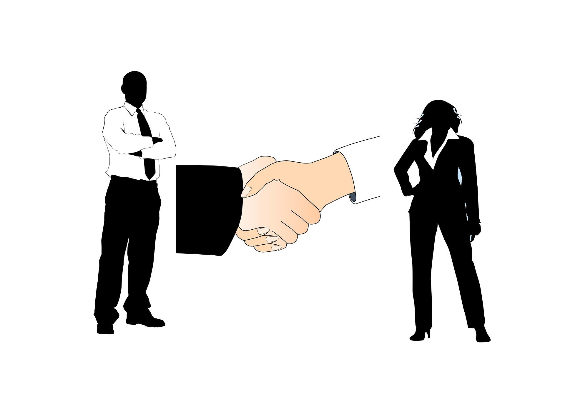 хора и ръкостискане